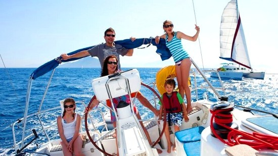Family vacation on a yacht charter
